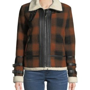 SHERPA PLAID JACKET by DEX ! Size s